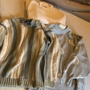 Men's Sweaters 3 Pack Warm Fall Pullovers